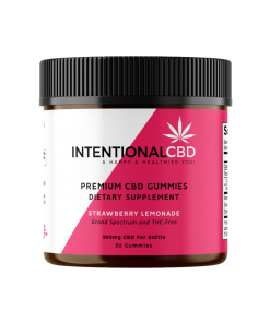 CBD Gummies - Strawberry Lemonade - 300mg - Premium CBD Gummies for sale intentionalcbd.com - Intentional CBD, LLC