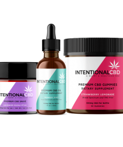 Intentional CBD Gifts & Bundles - Starter Kit 3 pack