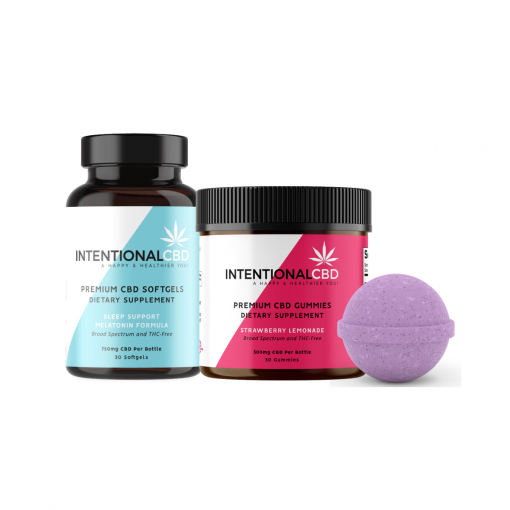 Rest Relaxation & Sleep Support CBD Gifts & Wellness Bundles - Intentional CBD ICBD